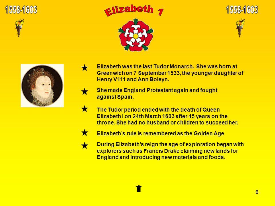 1558-1603 1558-1603. Elizabeth 1.