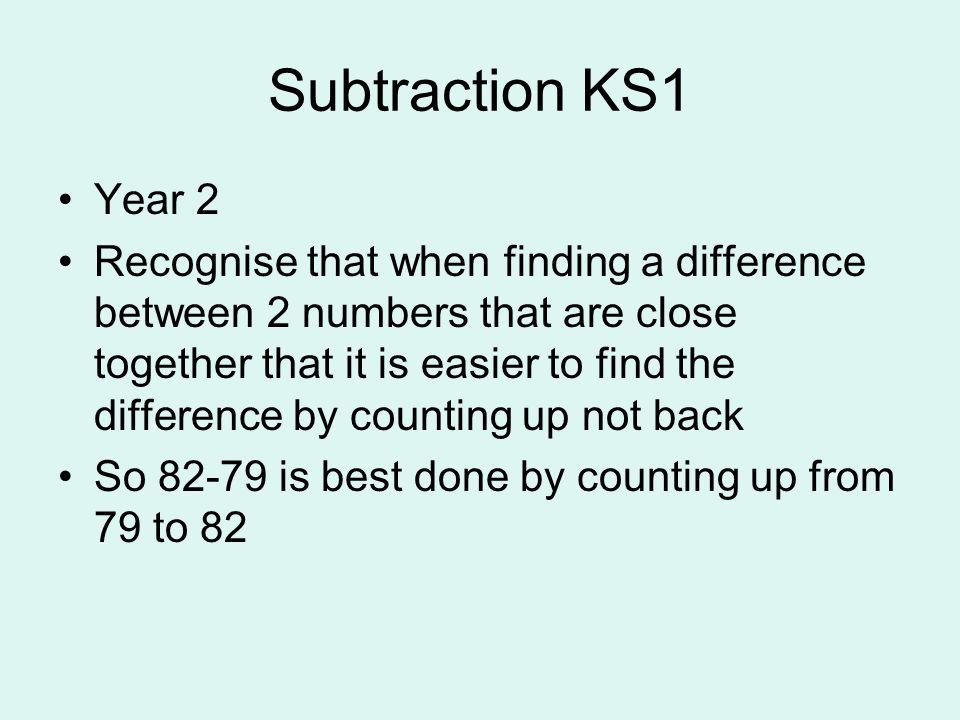 Subtraction KS1 Year 2.
