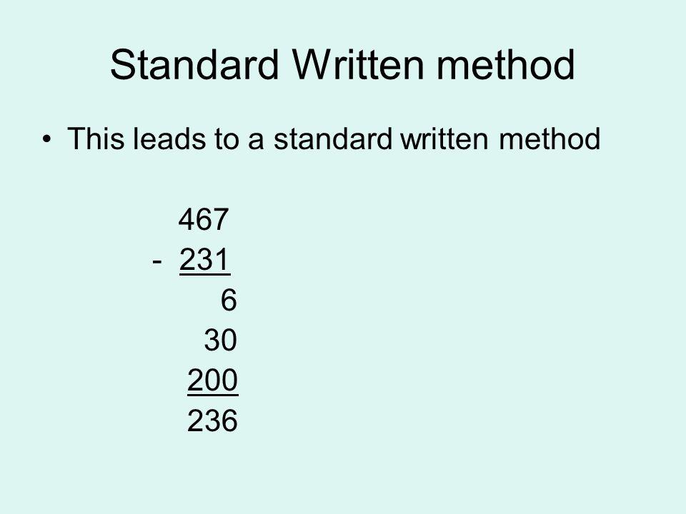 Standard Written method