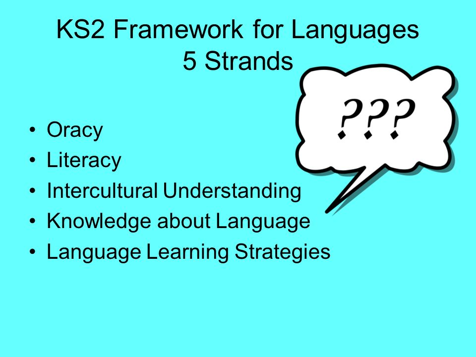 KS2 Framework for Languages 5 Strands