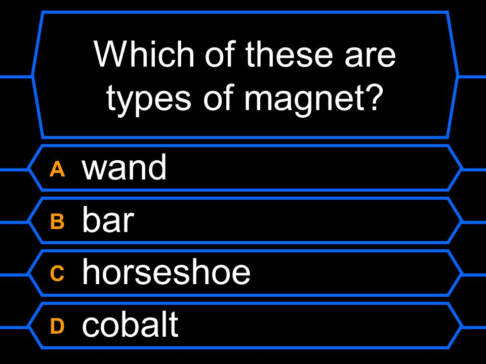 Which of these are types of magnet