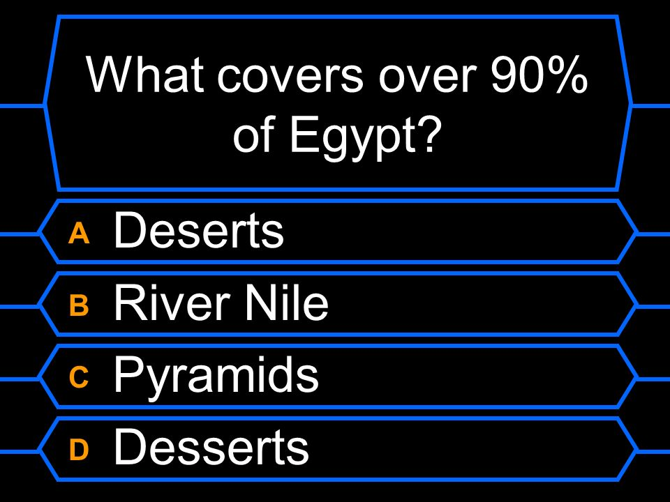 What covers over 90% of Egypt