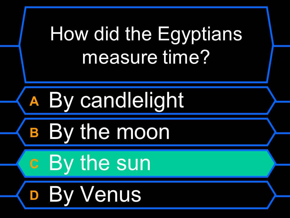 How did the Egyptians measure time
