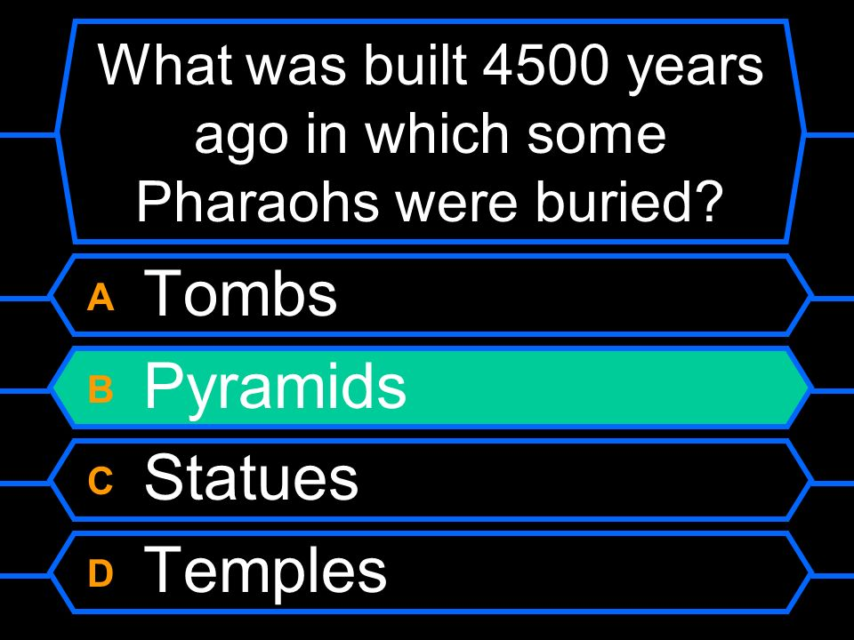 What was built 4500 years ago in which some Pharaohs were buried