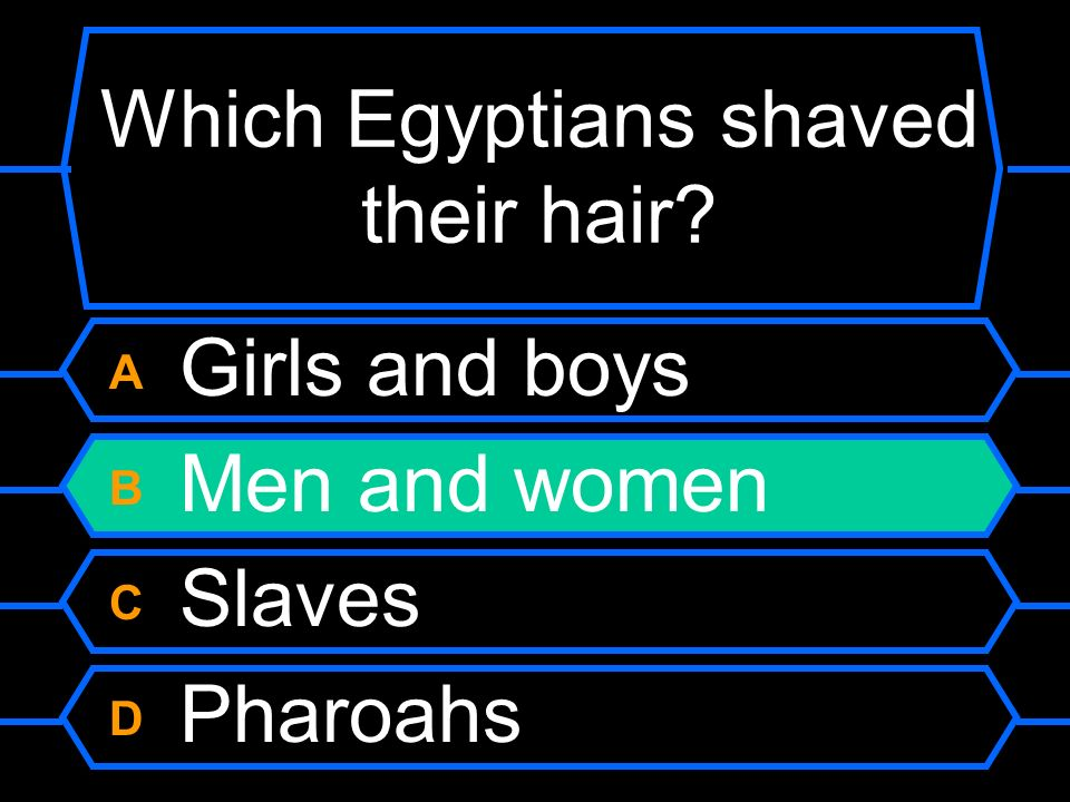 Which Egyptians shaved their hair