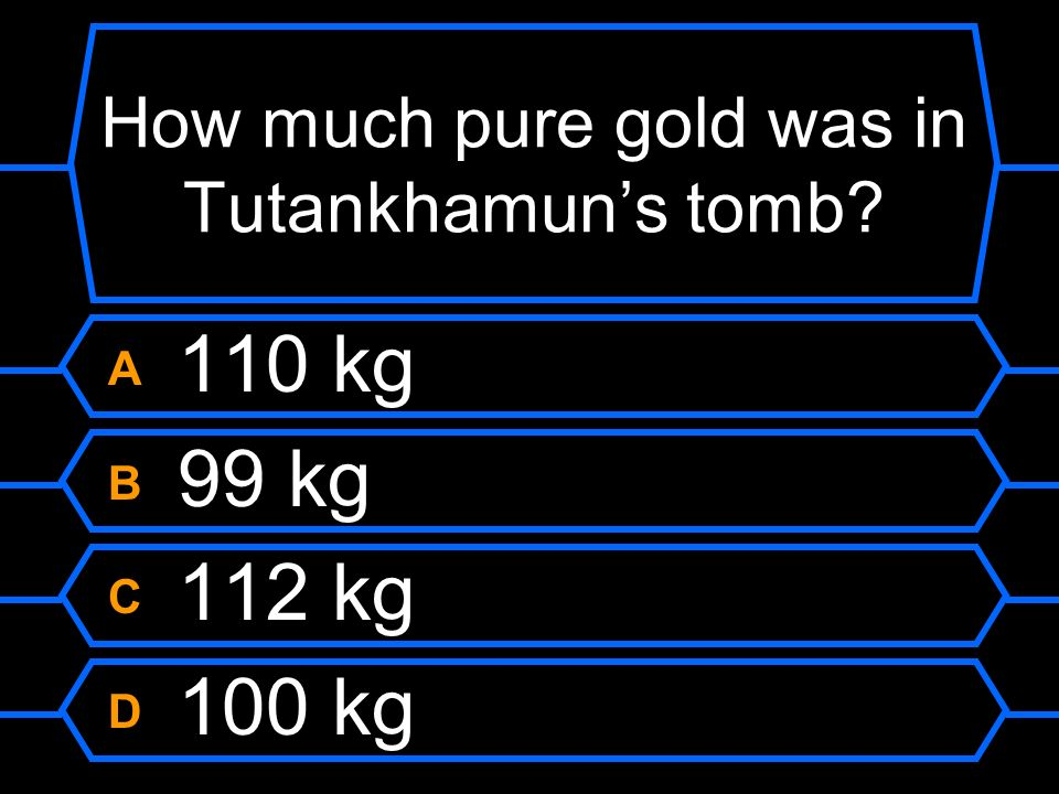 How much pure gold was in Tutankhamun's tomb