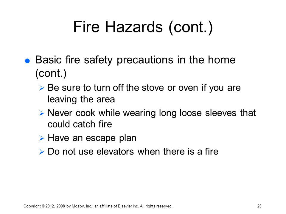 fire hazards and precautions Precautions & risk assessment  a fire prevention strategy and a fire risk assessment should include detail and a full consideration of all of the issues.