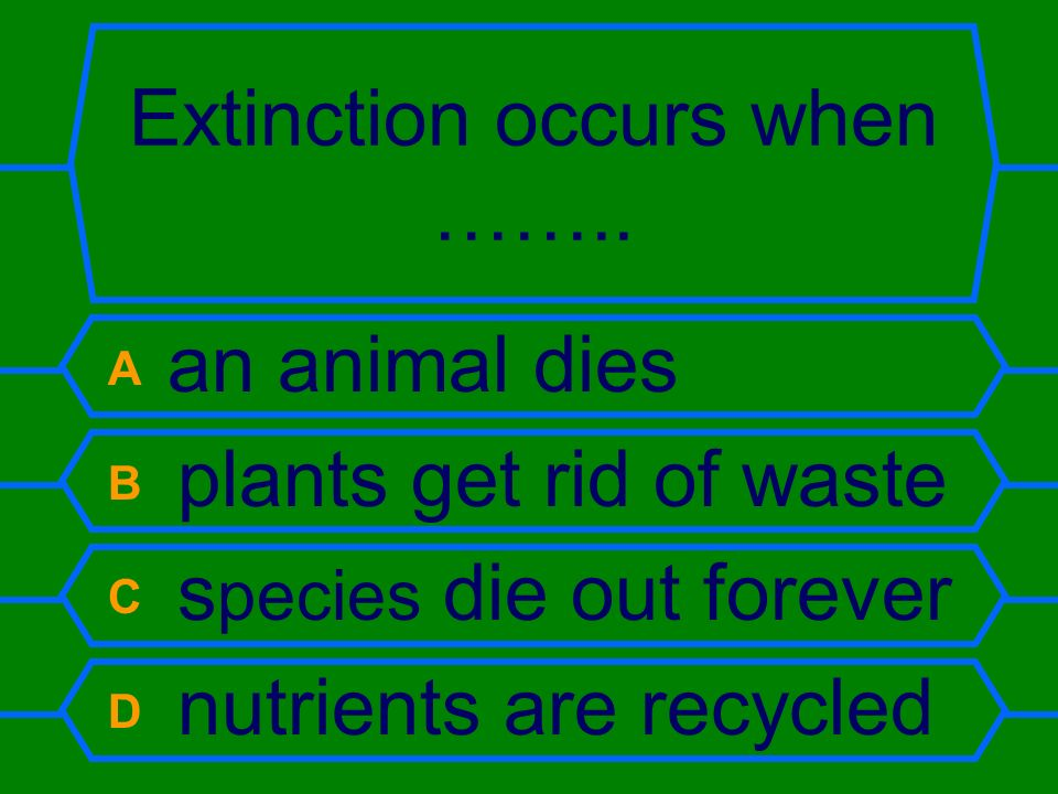 Extinction occurs when ……..