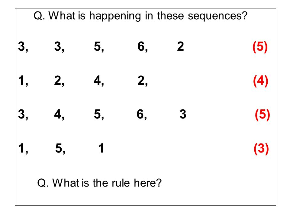 Q. What is happening in these sequences