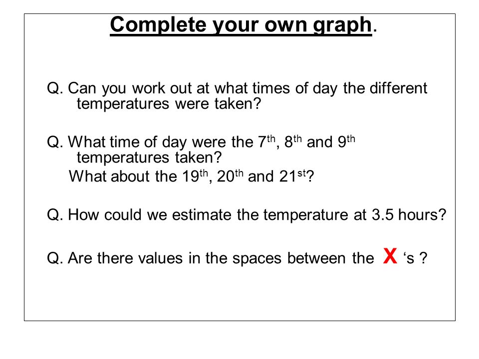 Q. What time of day were the 7th, 8th and 9th temperatures taken