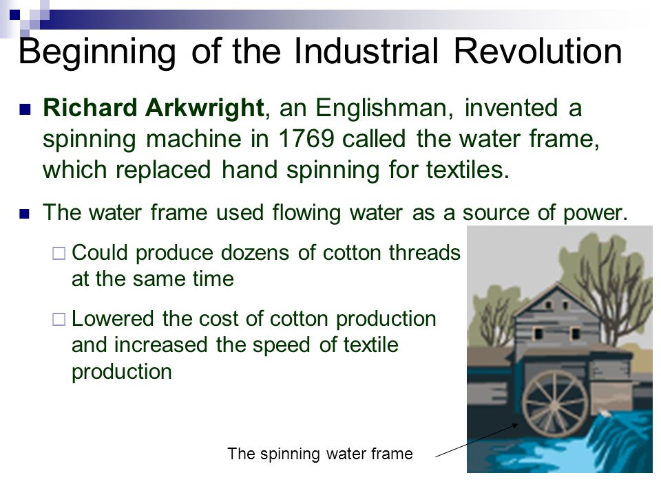 the beginning of a revolution The industrial revolutions the term 'industrial revolution' was used to describe the period by the 1830s, but modern historians increasingly call this period the 'first industrial revolution', characterized by developments in textiles, iron, and steam led by britain, to differentiate it from a 'second' revolution of the 1850s onwards.