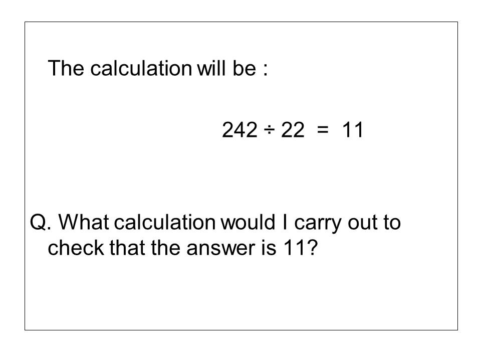 The calculation will be :