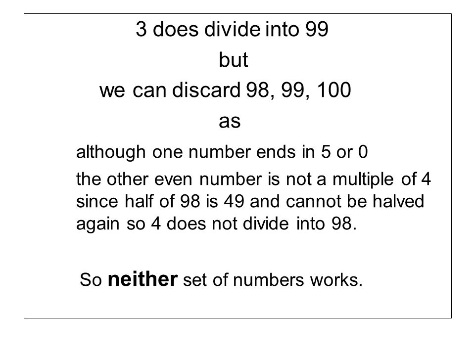although one number ends in 5 or 0