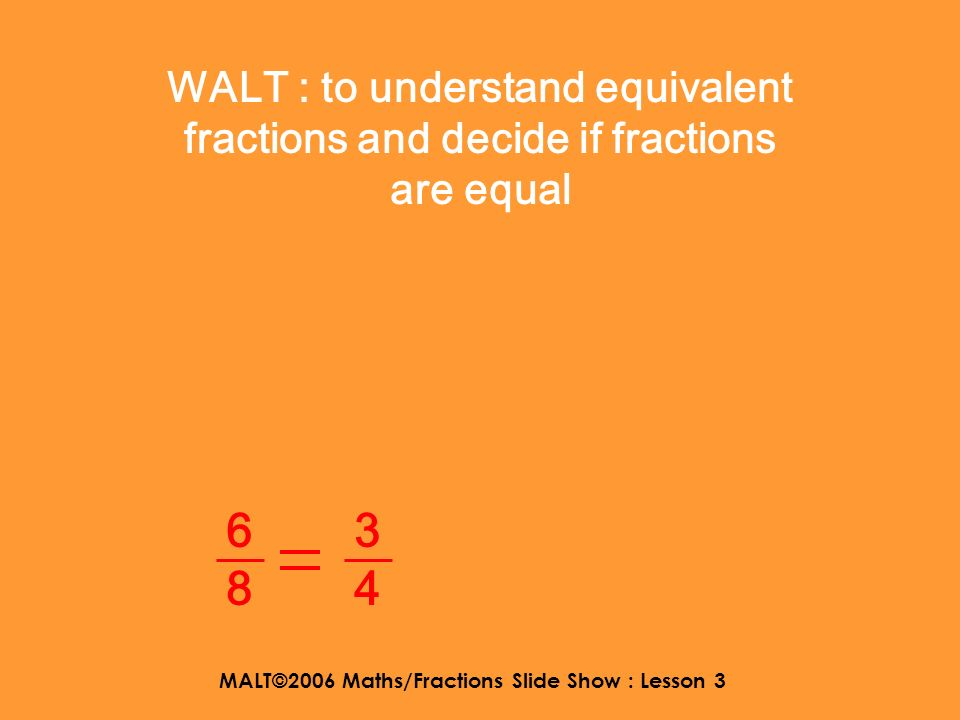 MALT©2006 Maths/Fractions Slide Show : Lesson 3