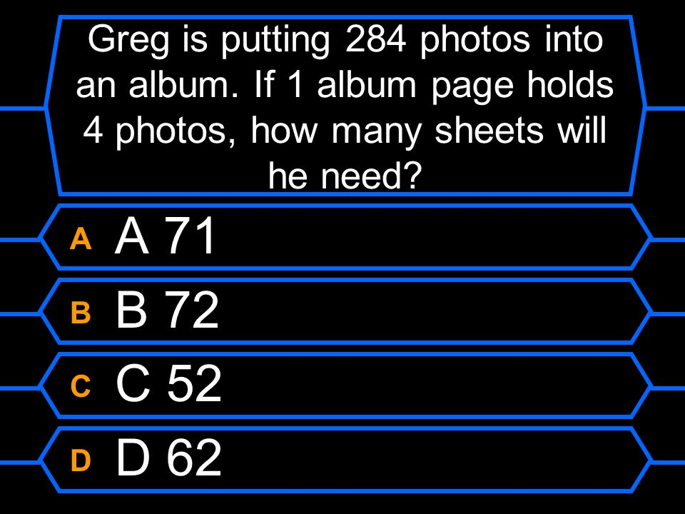 Greg is putting 284 photos into an album
