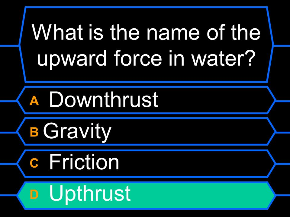 What is the name of the upward force in water