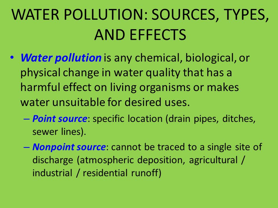 location effects on water quality and This suite of water quality effects will increase the number of water bodies in violation of today's water quality standards, worsen the quality of water bodies that are currently in violation, and ultimately increase the cost of meeting current water quality goals for both consumptive and environmental purposes.