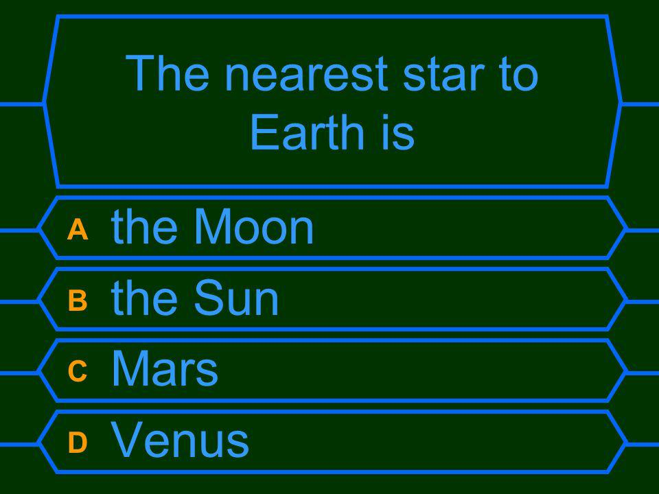 The nearest star to Earth is