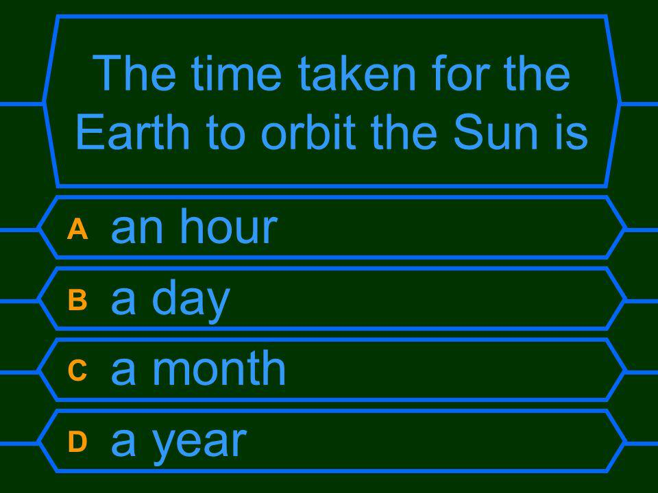 The time taken for the Earth to orbit the Sun is