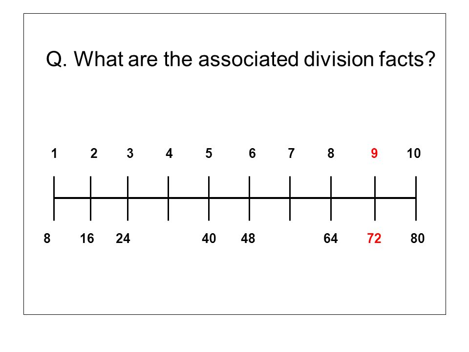 Q. What are the associated division facts