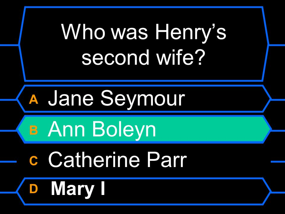 Who was Henry's second wife