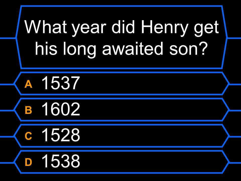 What year did Henry get his long awaited son