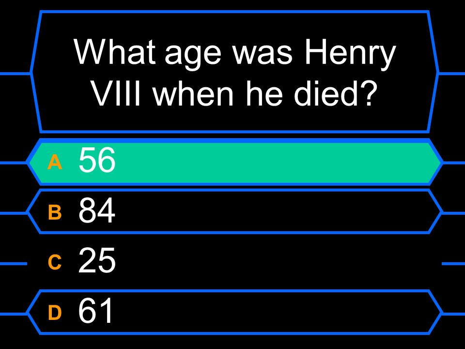 What age was Henry VIII when he died
