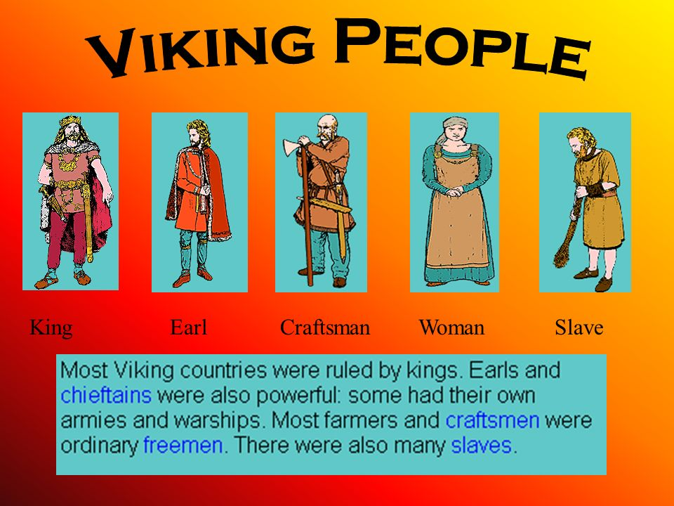 Viking People King Earl Craftsman Woman Slave