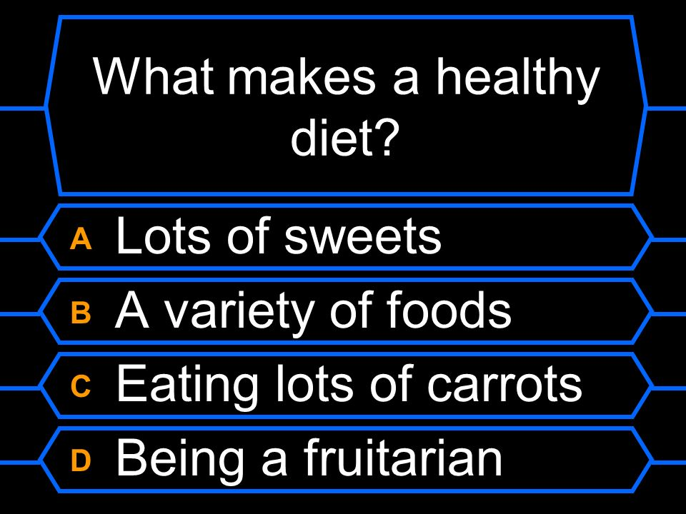 What makes a healthy diet