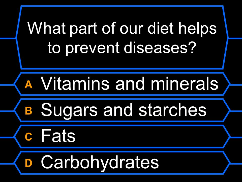 What part of our diet helps to prevent diseases