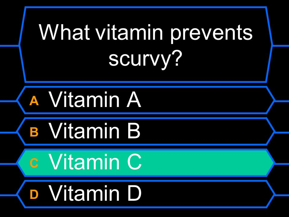 What vitamin prevents scurvy