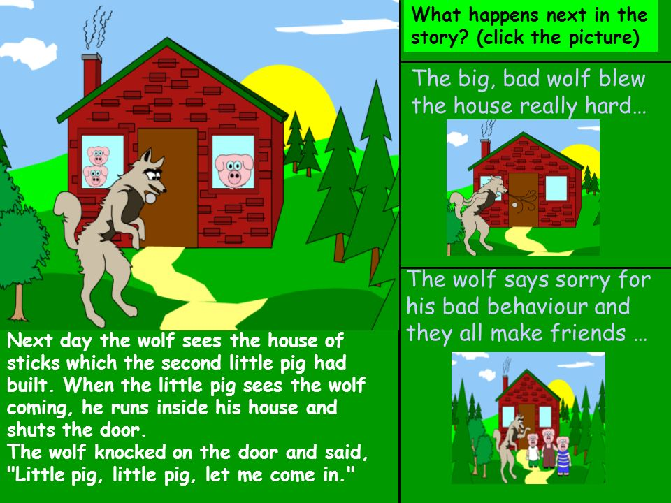 The big, bad wolf blew the house really hard…