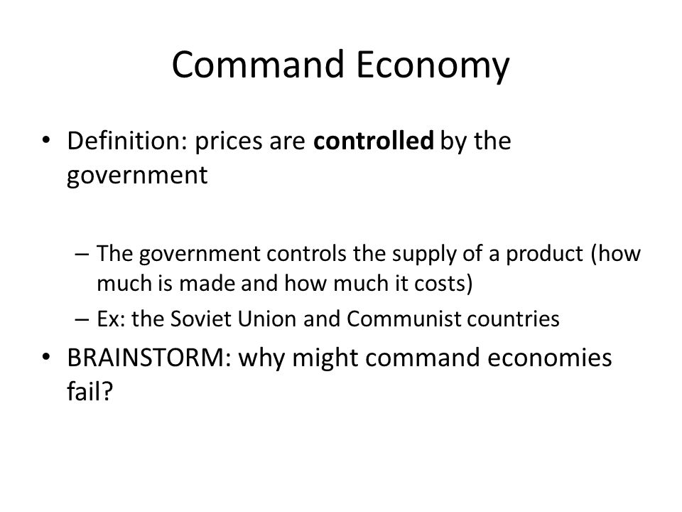 was soviet union a command economy? essay It starts from a brief history of communist economic system based on central  planning in the former soviet union and central and eastern europe, its  evolution.