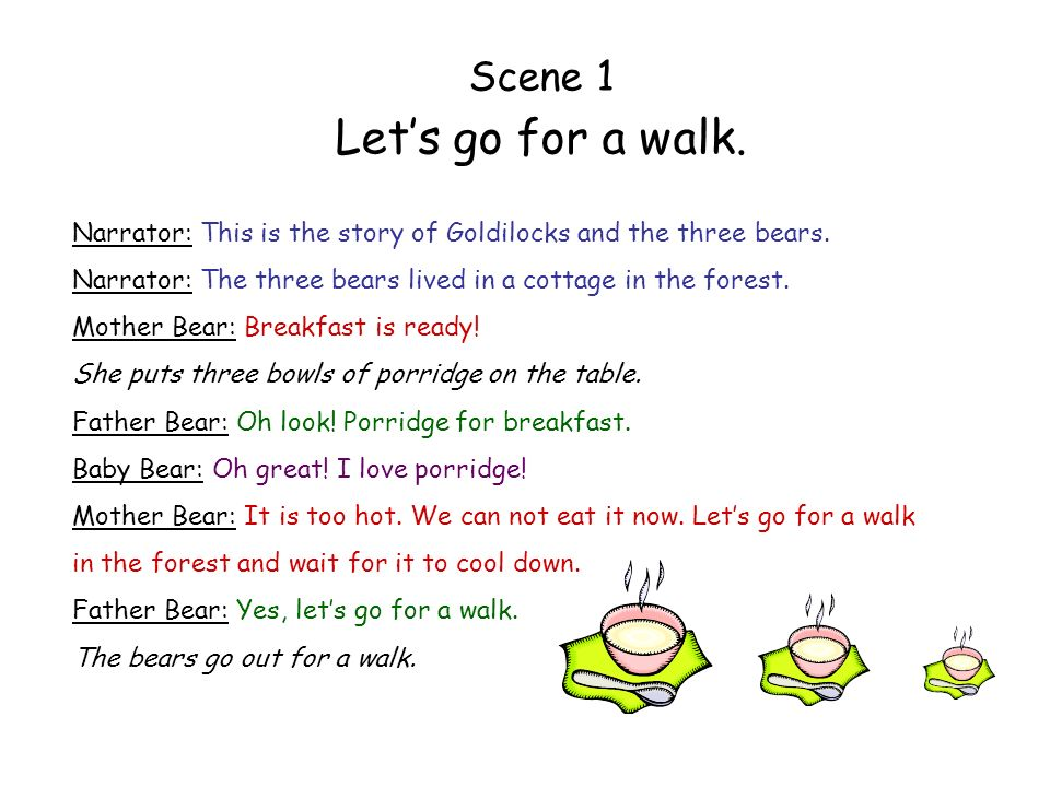 Let's go for a walk. Scene 1