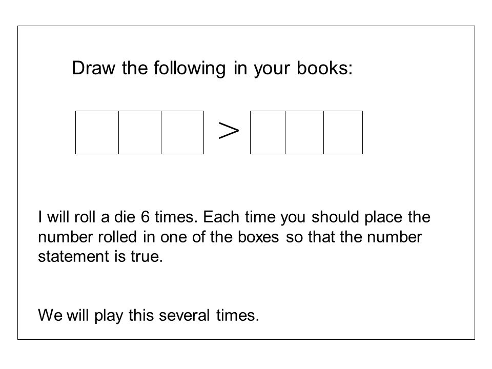 Draw the following in your books: