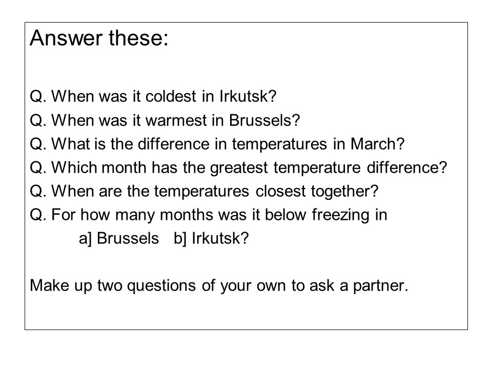 Answer these: Q. When was it coldest in Irkutsk