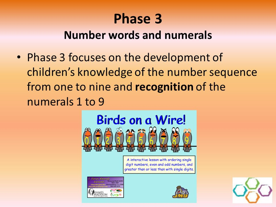 Phase 3 Number words and numerals