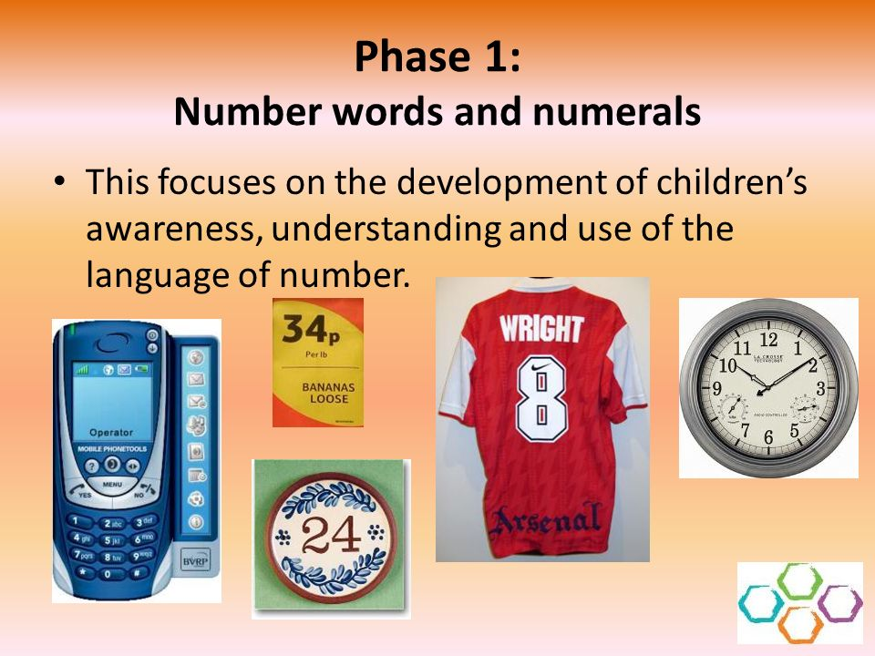 Phase 1: Number words and numerals