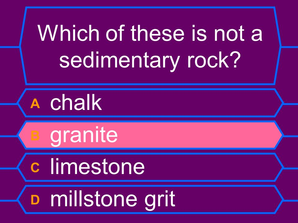 Which of these is not a sedimentary rock