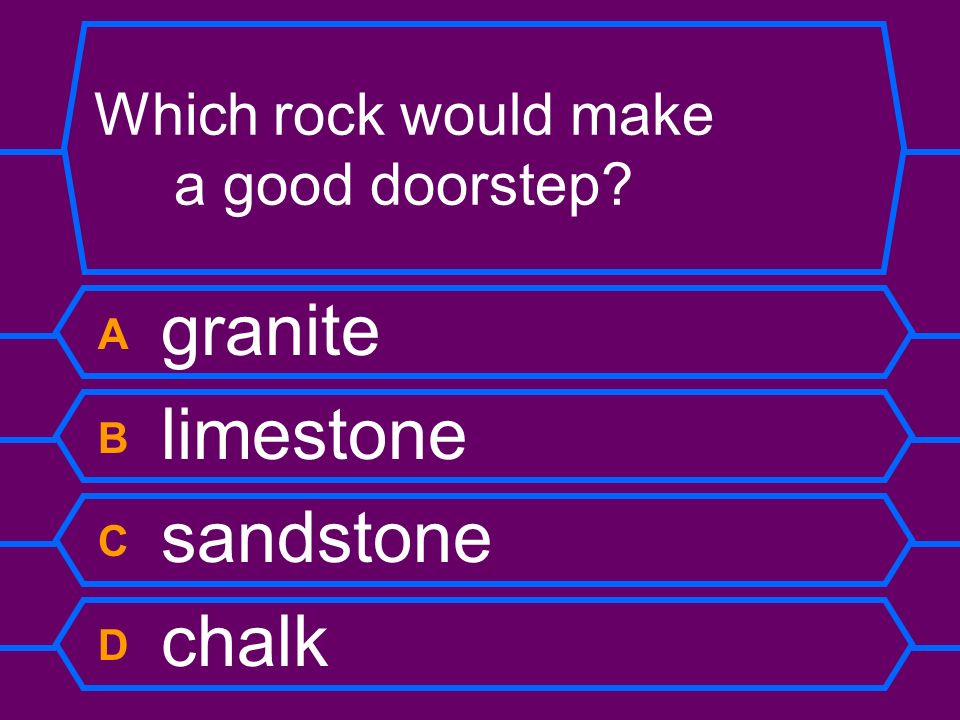 Which rock would make a good doorstep