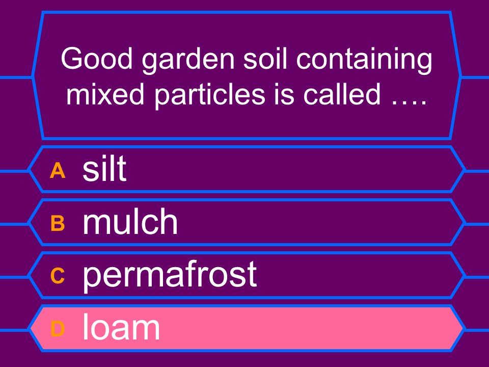 Good garden soil containing mixed particles is called ….