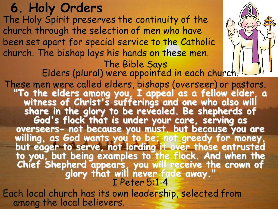 The Bible Says Elders (plural) were appointed in each church.