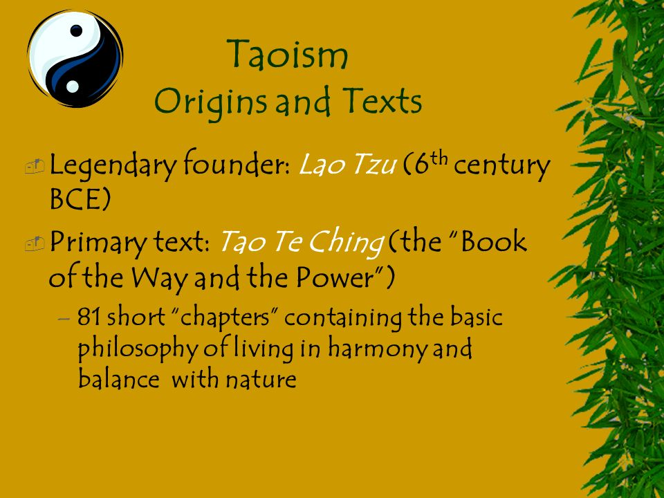 the origin and history of taoism The teachings of confucianism & taoism recall the origin of confucianism confucianism: definition, beliefs & history related study materials.
