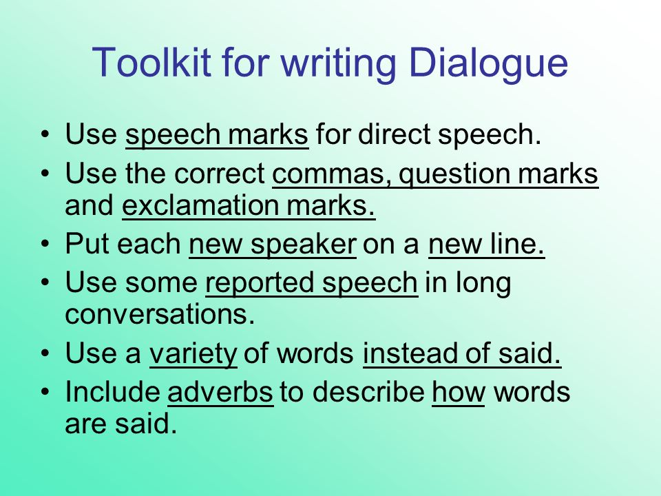 directed writing dialogue Susan kouguell, award-winning screenwriter and filmmaker and screenwriting teacher at suny college at purchase gives advice on writing dialogue that's truthful.