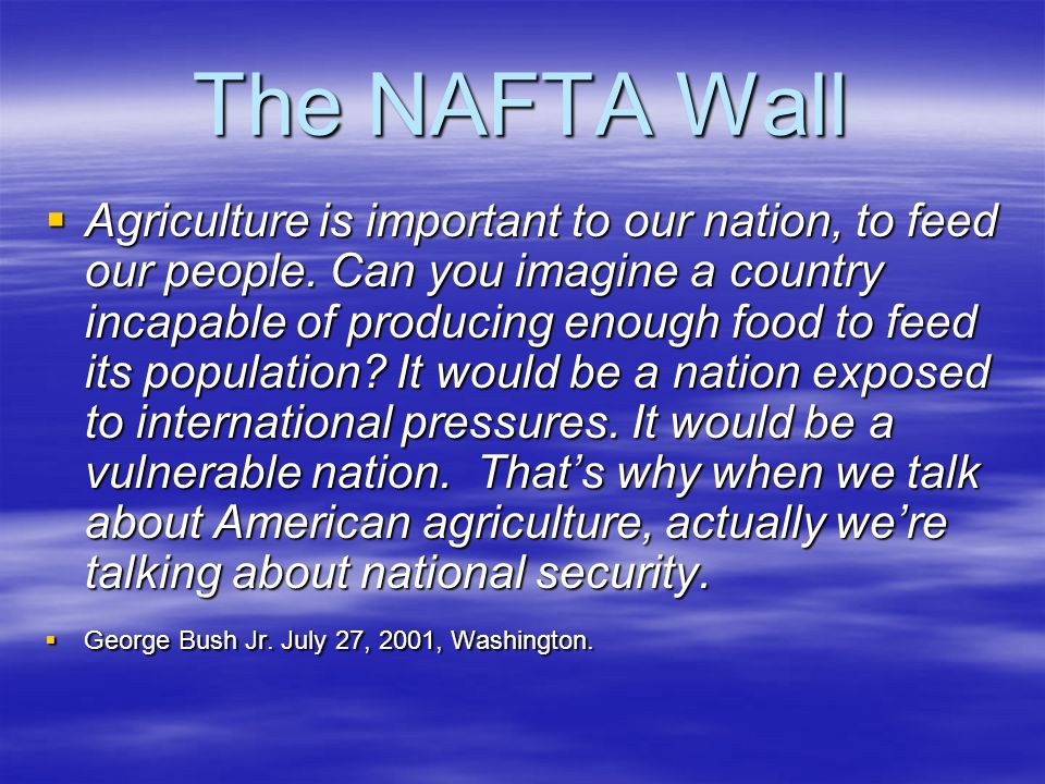 The NAFTA Wall