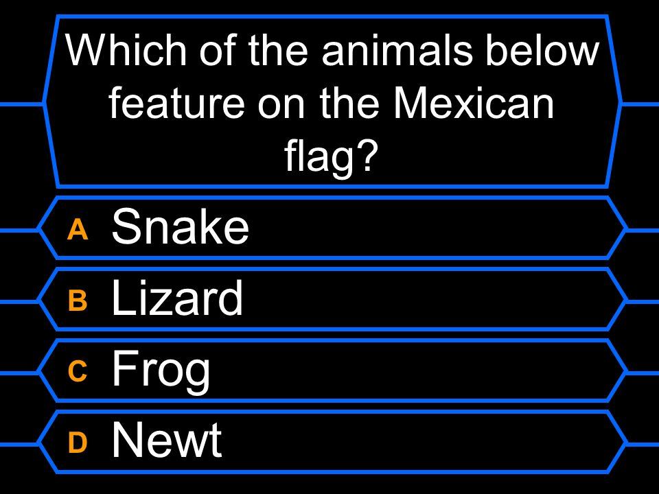 Which of the animals below feature on the Mexican flag