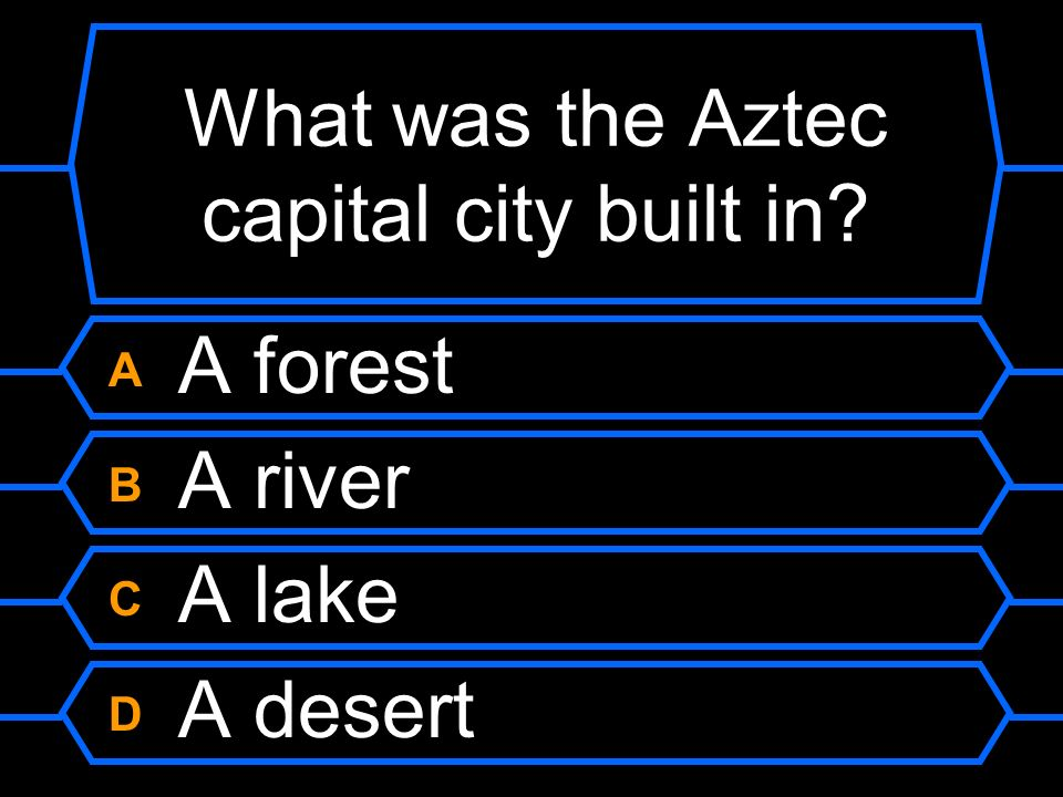 What was the Aztec capital city built in