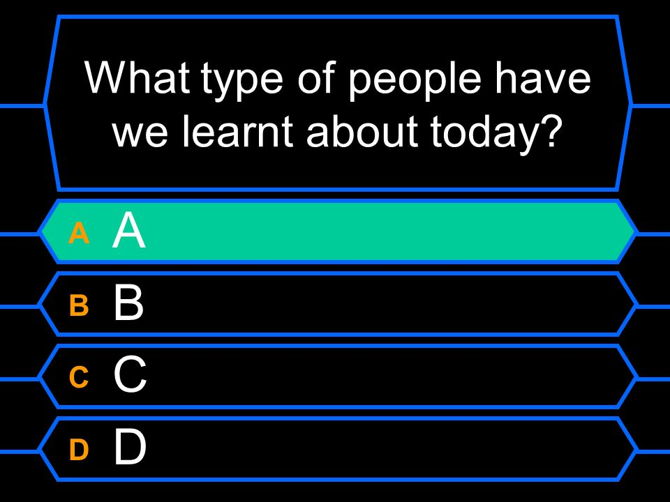 What type of people have we learnt about today
