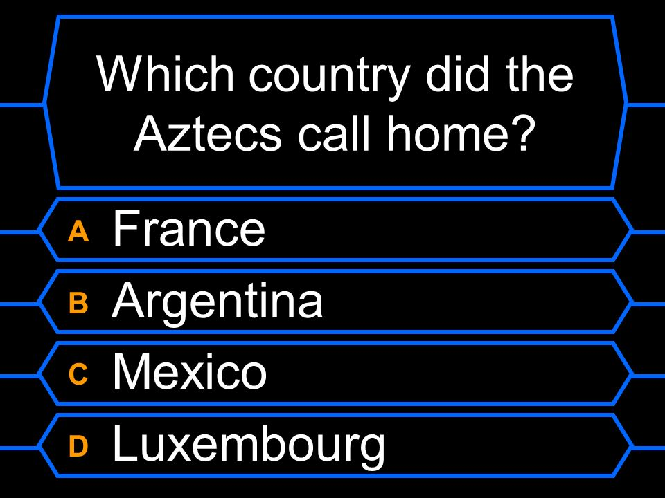 Which country did the Aztecs call home