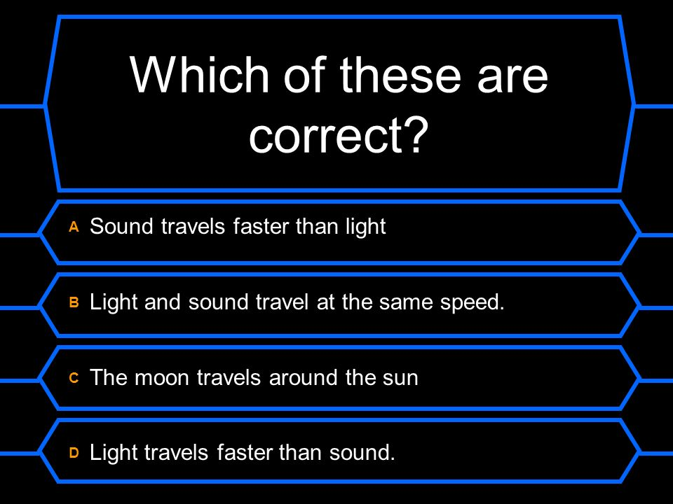 Which of these are correct